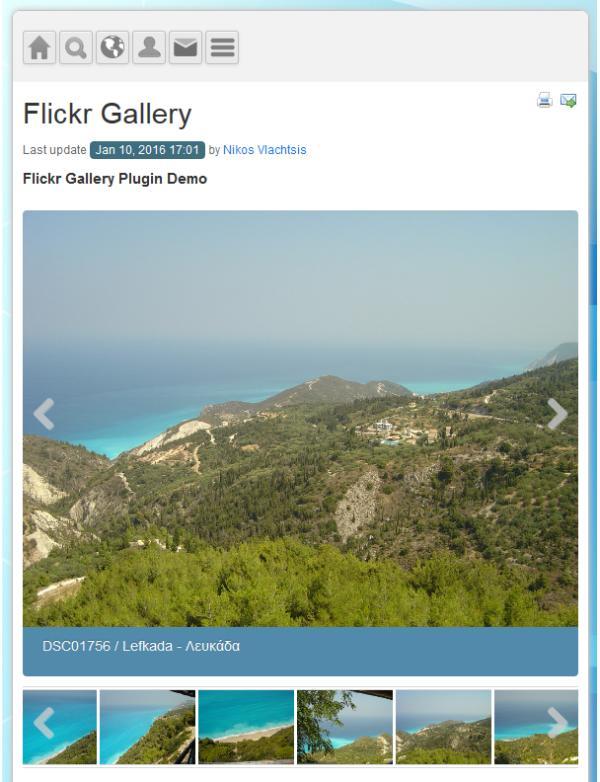 Flickr Gallery - Multimedia